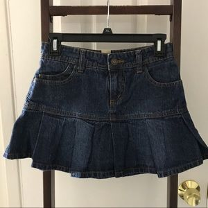 Girls pleated jean Arizona Jean Co skirt